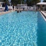 Clean, heated pool