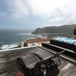View at the knysna heads from private deck