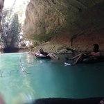 Cave Tubing - Notice the peaceful float