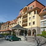 Front of the spa hotel Lysec