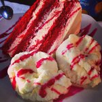 Very nice presentation of the red velvet but needs improvement on the flavour.