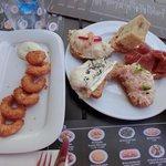 seafood tapa and assortment tapas
