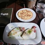 Octopus tapas and potato omelette