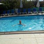 The pool has a hoist for easy access
