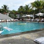 The main pool area.