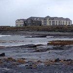 The stoney beach beside the hotel
