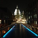 From millennium bridge looking back to St. Paul's