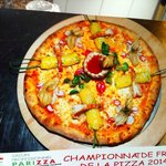 La pizza qui a participé au championnat de France