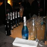 Bottles of the blue champagne!