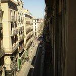 View from Room 308 looking toward Carrer de la Princesa