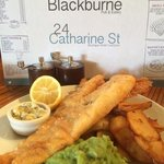 fish and chips for one !!!!! more like for two delicious