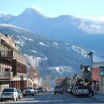 Kaslo's Front Street -- the Blue Belle is on the right side, down toward the mountains
