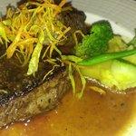 Steak at Cin Cin. Double Portion. Excellent.