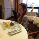 My doughter's Allison first experience in a Michelin star restaurant ..