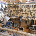Various antique tools used in maple syrup industry