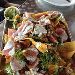 Appetizer: Ahi Tuna Nachos...nachos are fried wontons...So Good