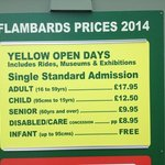 2014 yellow days admission prices
