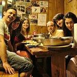 Pizza con amigos en Periko's