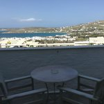 View from our balcony at Sunsetview Paros