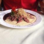 um dos pratos do restaurante