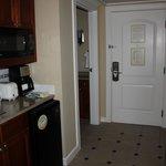 2nd bedroom hall area, door, kitchenette