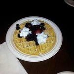 Waffles no café da manhã