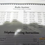 Radio station list from the guest guidebook - it doesn't list the formats for each station thoug