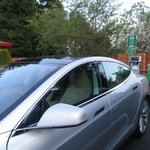 Tesla Charging at our Level 2 car charging station