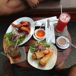 Poolside snacks