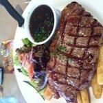 lunch steak $13.50