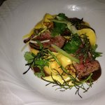 veal fillet with sweet potato tortellini
