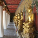 Golden Buddhas at Wat Arun temple complex