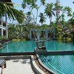 The superb pool area