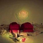 Romantic sleeping igloo