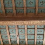 This is the original old ceiling preserved in the lobby, the lillies - symbol of Florence