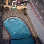 La piscine en piteux état...