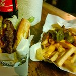 Epic Meisterburger and Chili Cheese Fries.
