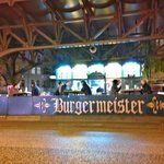 Burgermeister. The one and only. Notice the beer basket benches on the left corner.