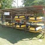 Water sports equipment rental shed