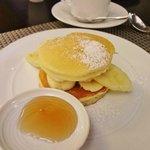 朝食 バナナパンケーキ
