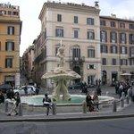 The fountain in Piazza Barberini