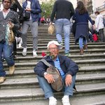 Gordy on the Spanish Steps, I've spent 50 years with him!