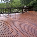 The brand new central lodge deck, laid April 2014