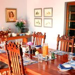 The dining room where breakfast is served