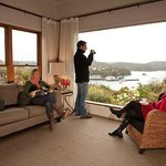 Guest lounge at Stewart Island Lodge