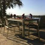 Breakfast overlooking the Zambesi