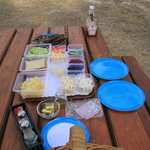 BBQ items - ready for meal