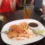 Chicken chop combo, RM5!