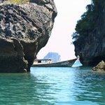 Kayaking aroung Hong Island near Krabi
