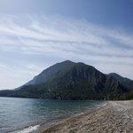 The beach toward Olympos